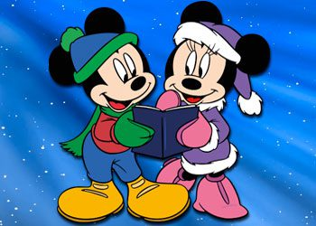 Coloriage : Mickey et Minnie