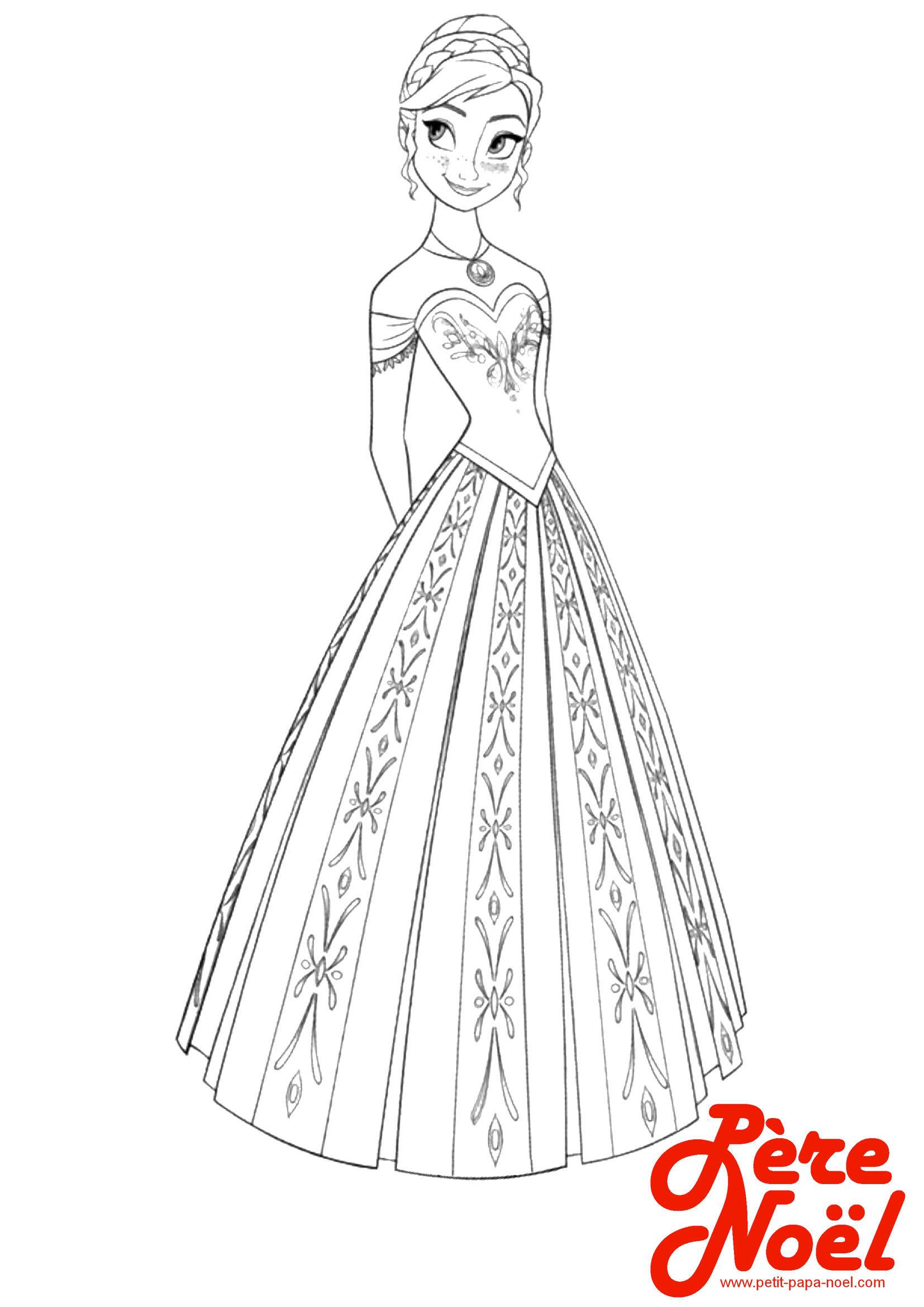 Coloriage Princesse Petit Papa Noel Coloriage Princesse Disney