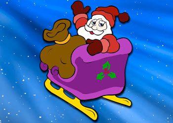Coloriage : Traîneau du Père Noël